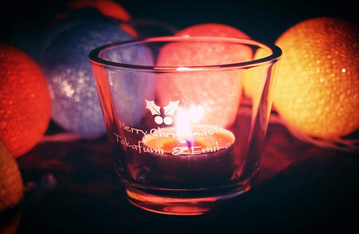 名入れ ロゴ入れ オリジナル キャンドルグラス ノベルティ 世界で1つ クリスマス