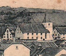 die paritätische Kirche, die 1902 abgebrochen wurde