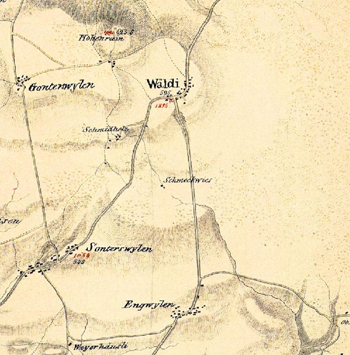Wäldi 1835 - Sulzbergerkarte