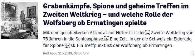die Reportage von Rolf App in der Thurgauer Zeitung vom 21. Juli 2019