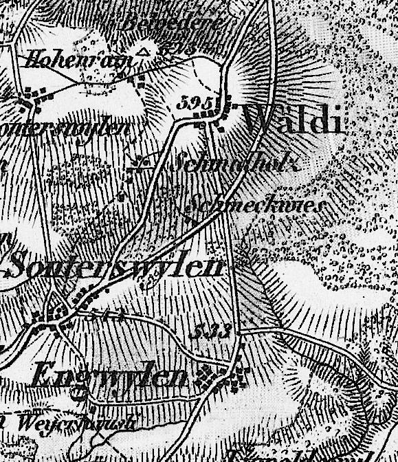 Wäldi 1875 - mit neuer Umfahrungsstrasse