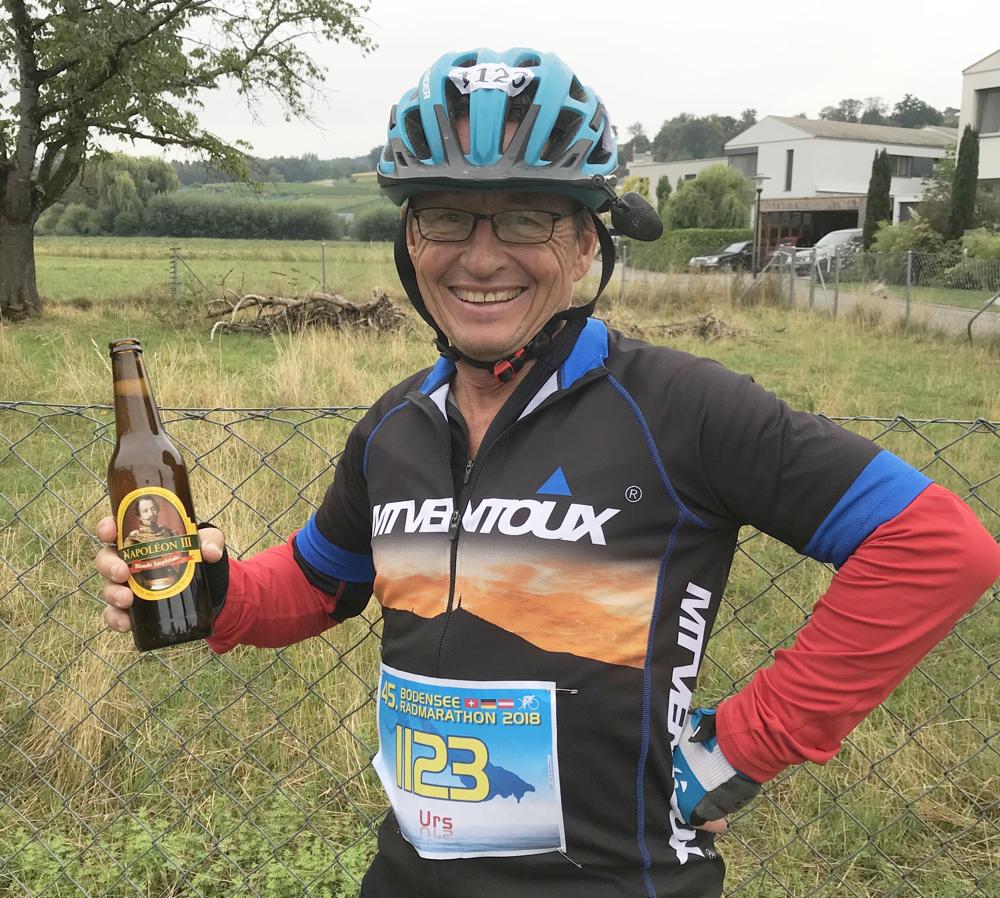 nie schmeckt ein Napoleon-Bier besser als nach der Bodenseerundfahrt!