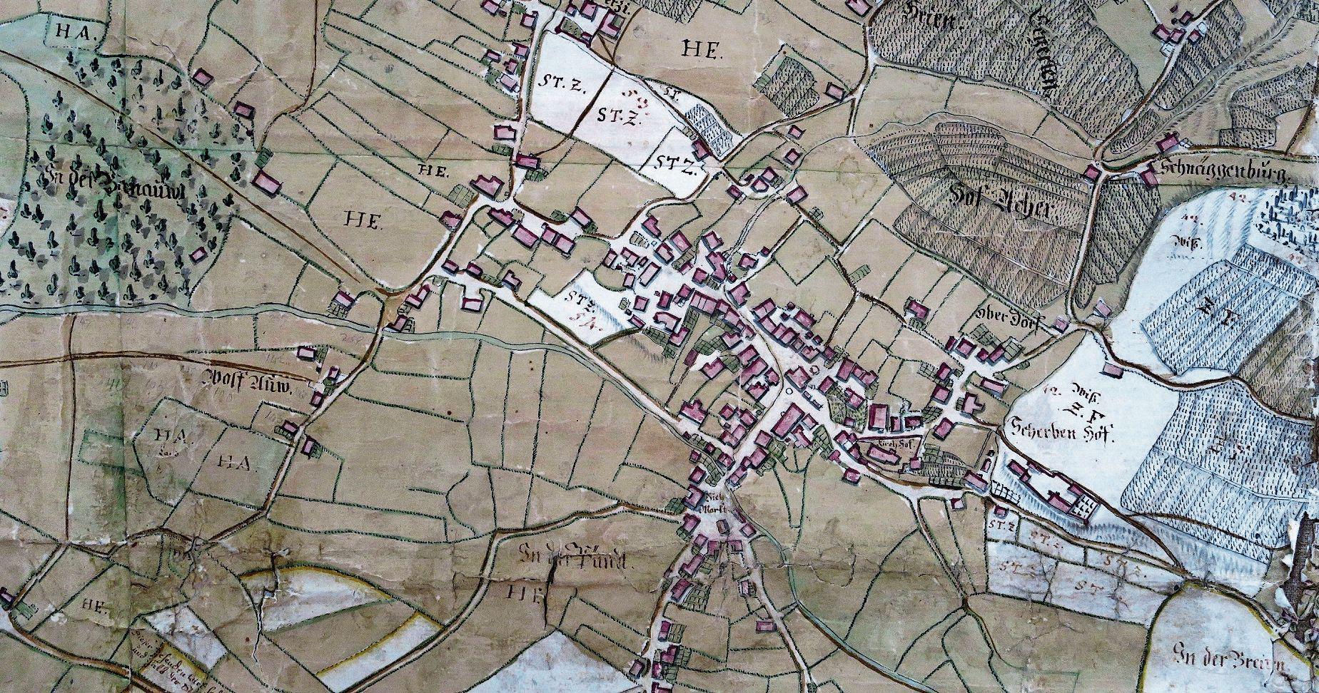 der Zehntenplan von 1695