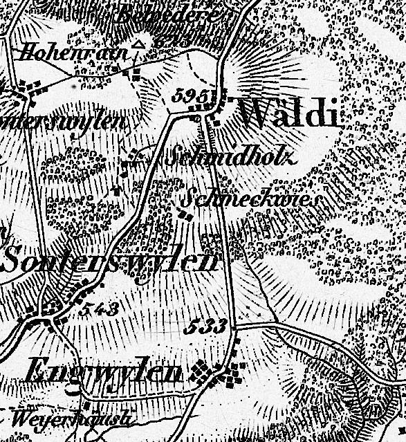 Wäldi 1850 - zur Zeit des Napoleonturms