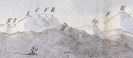 das Hörnli auf der Lithographie des historischen Napoleonturms