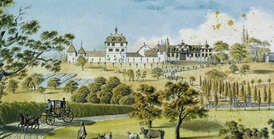 anonymes Aquarell, wohl 1811. - C. Stäheli, Schloss Wolfsberg bei Ermatingen, GSK Bern, S. 7