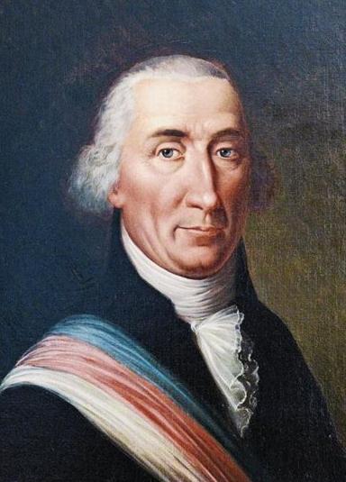Paul Reinhart, erster Präsident des freien Kantons Thurgau. - Gemälde eines unbekannten Malers im Rathaus Weinfelden
