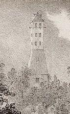 der historische Napoleonturm Belvédère; anonymer Stich