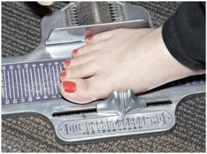 Sistema para ver las dimensiones de un pie