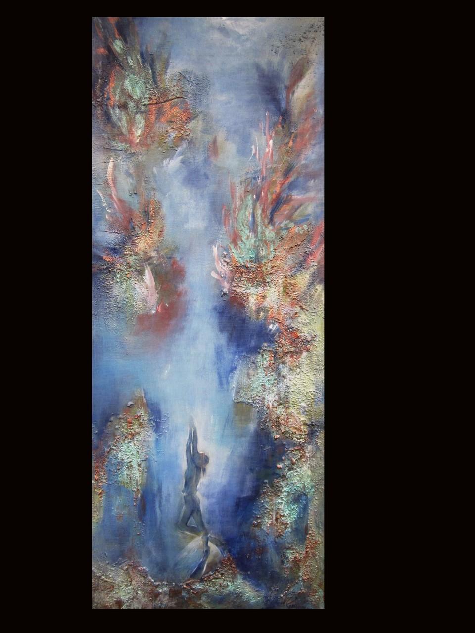 Nr. 41 The living sea 40 x 150  Mischtechnik