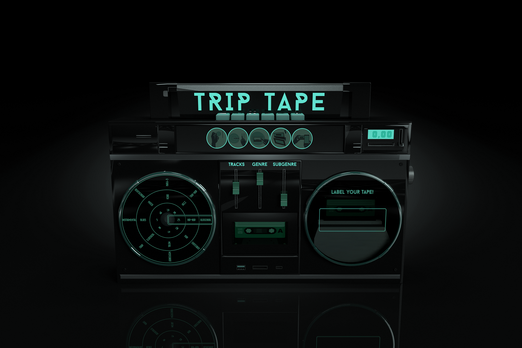 Fictive machine concept - the TRIP TAPE / Mixtape machine