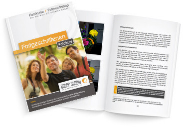 Fortgeschrittenen Fotoworkshop Booklet Broschüre Büchlein