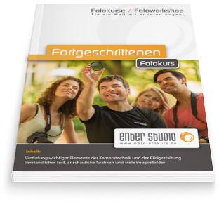 Fortgeschrittenen Fotokurs Booklet Broschüre Büchlein