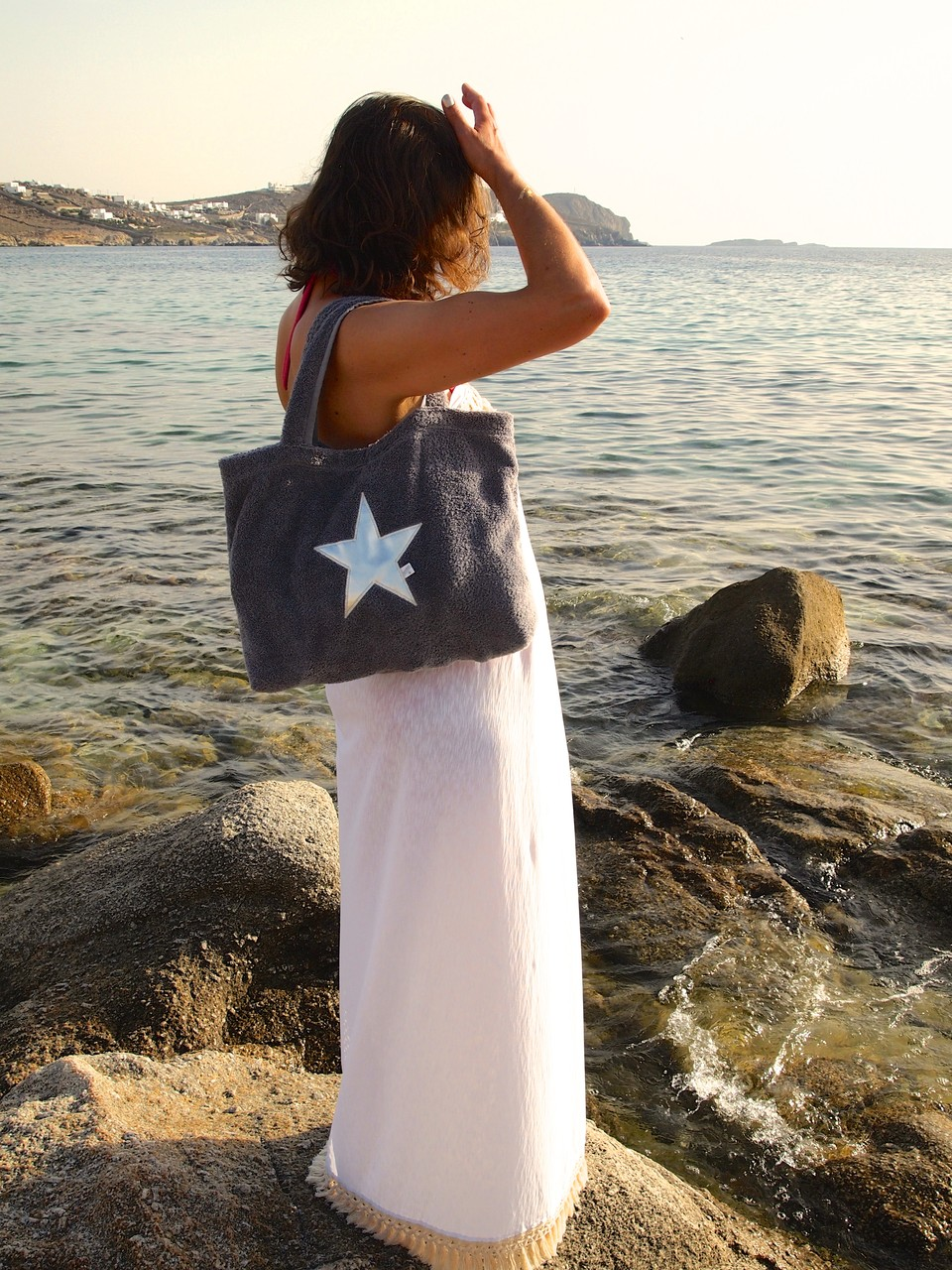 BYRH Beach Bag - Pool Bag - Platin - Siver edition - Mykonos - Hotel San Giorgio