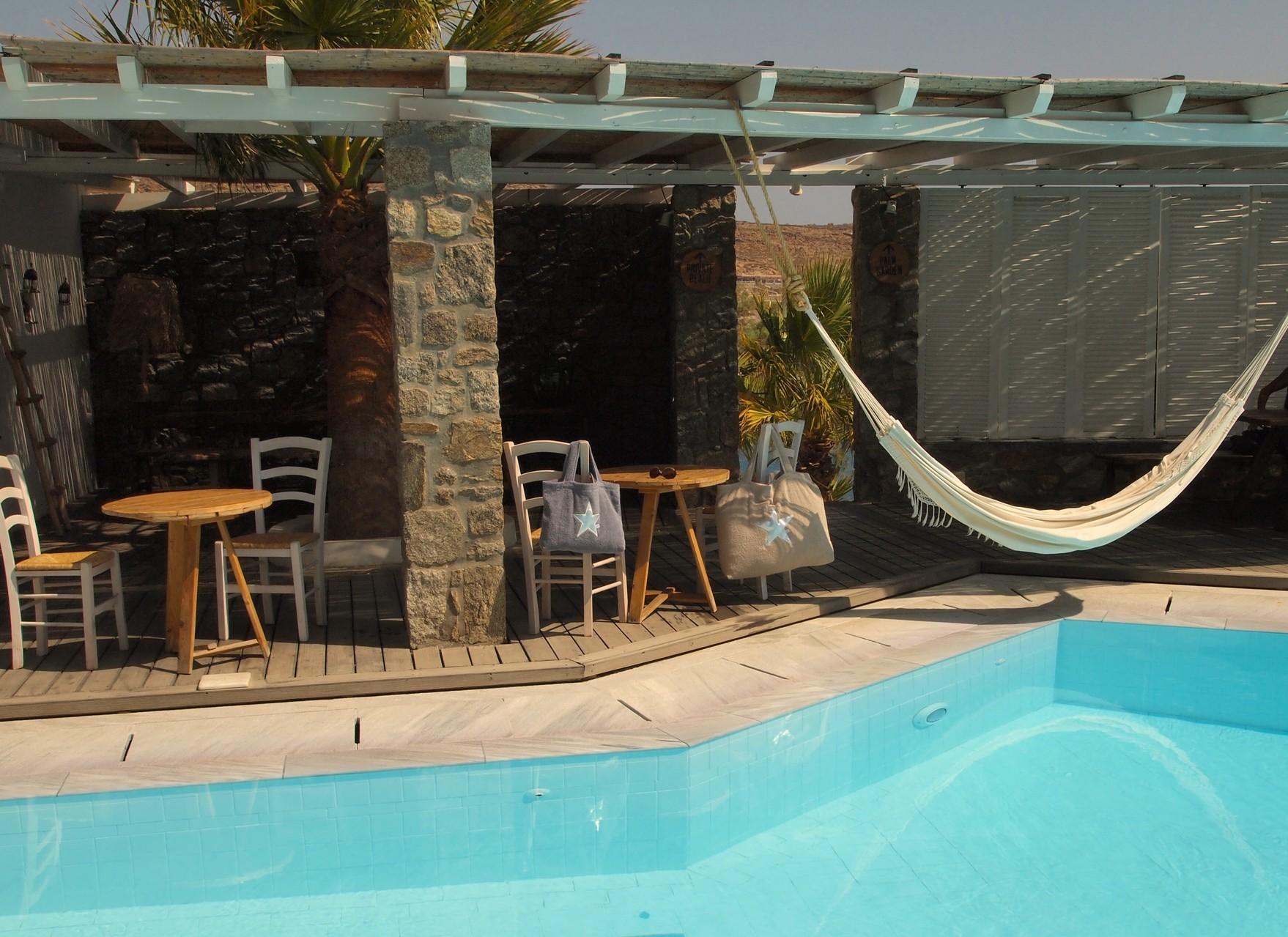 Mykonos - Hotel San Giorgio - Pool / Cantina - BYRH Beach Bags