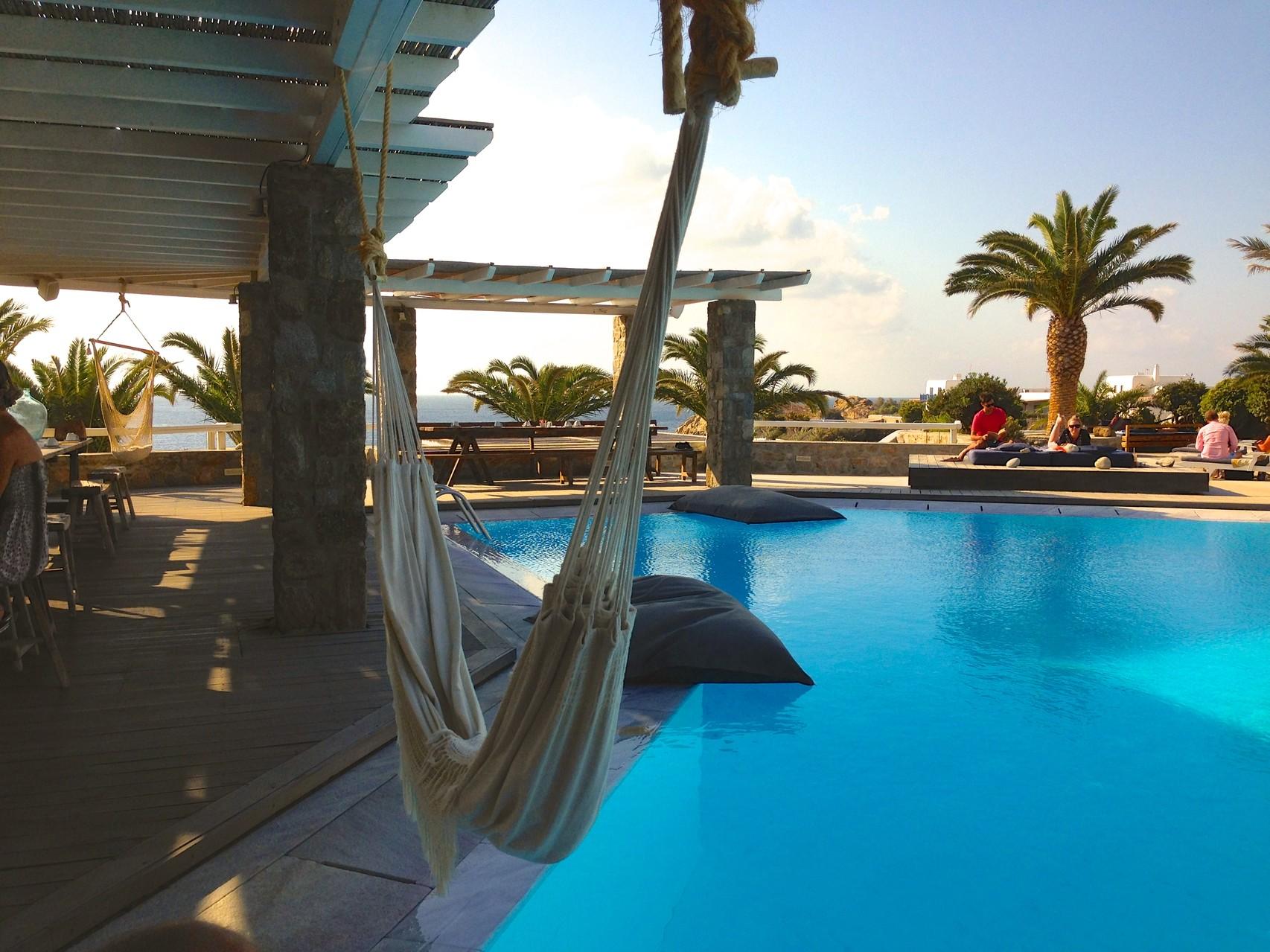 Mykonos - Hotel San Giorgio - Pool - BYRH Beach Bags