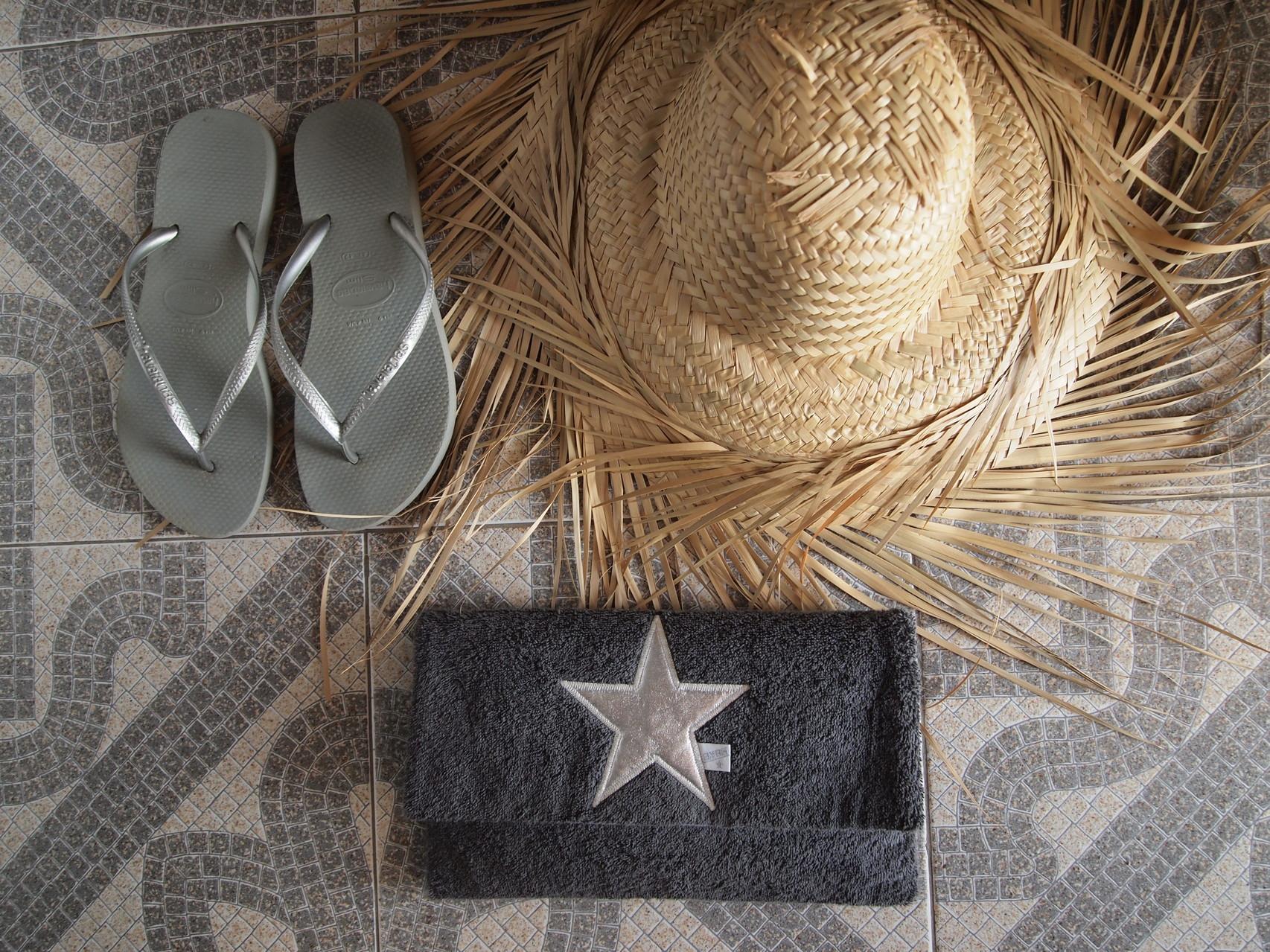BYRH Beach Bag -  Clutch - Graphit - Silver Edition - Mykonos - Hotel San Giorgio