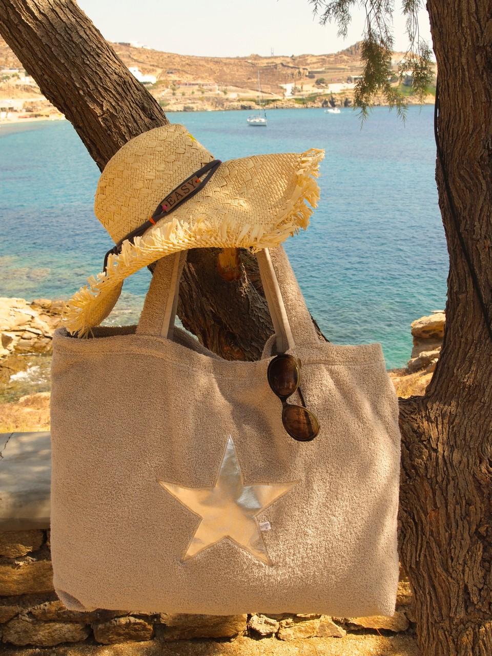BYRH Strandtasche -  Sand - Silver Edition - Mykonos - Hotel San Giorgio