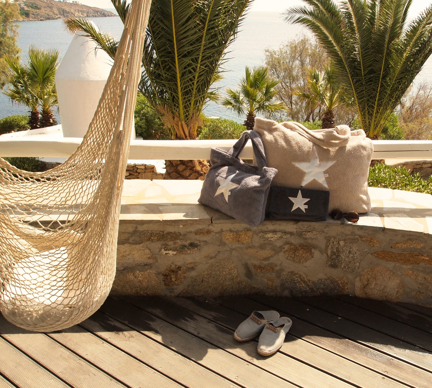 Hotel San Giorgio - Mykonos - BYRH Beach Bags -Silver- Edition
