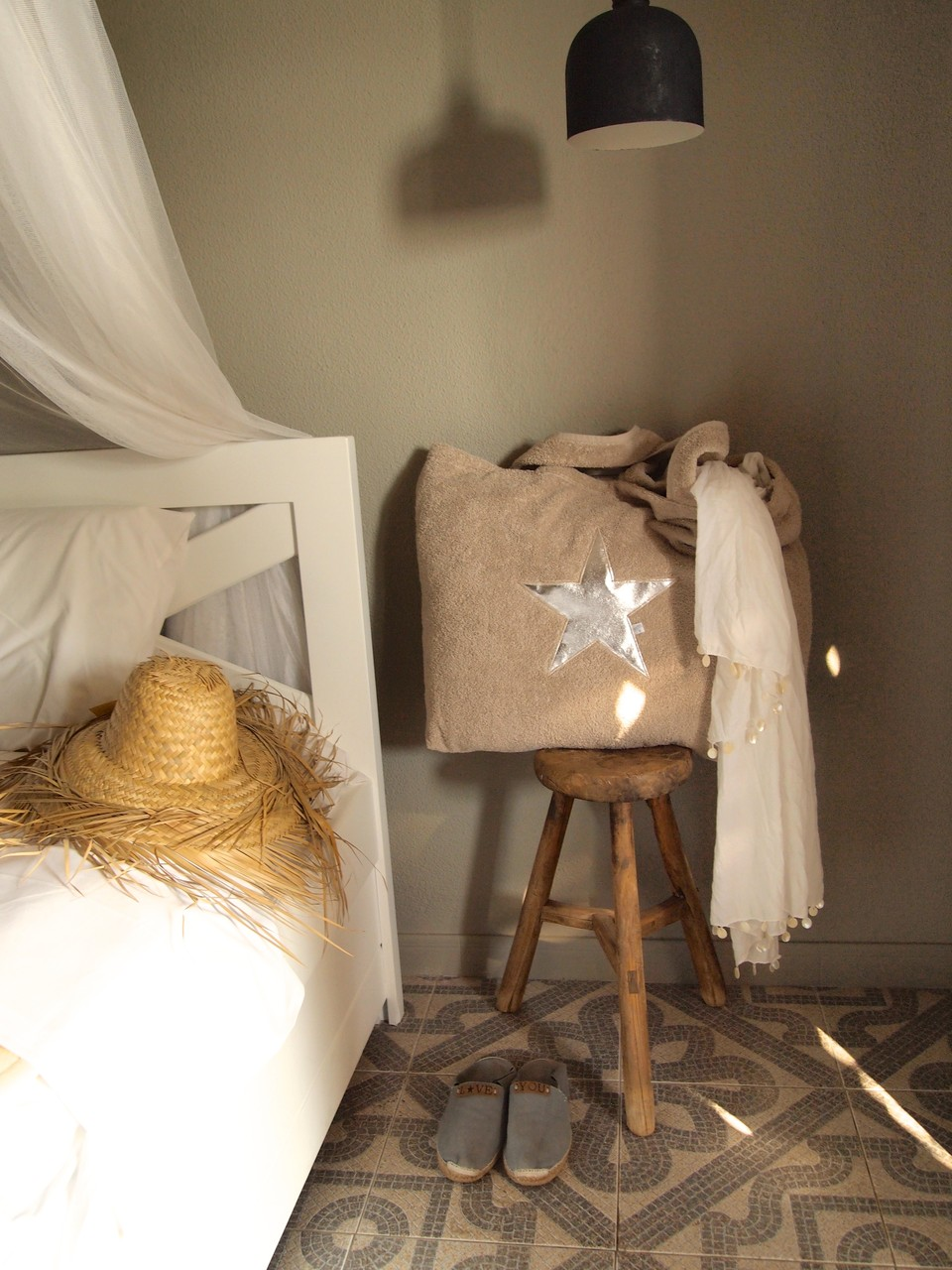 BYRH Beach Bag - Taupe - Silver Edition -  Mykonos - Hotel San Giorgio