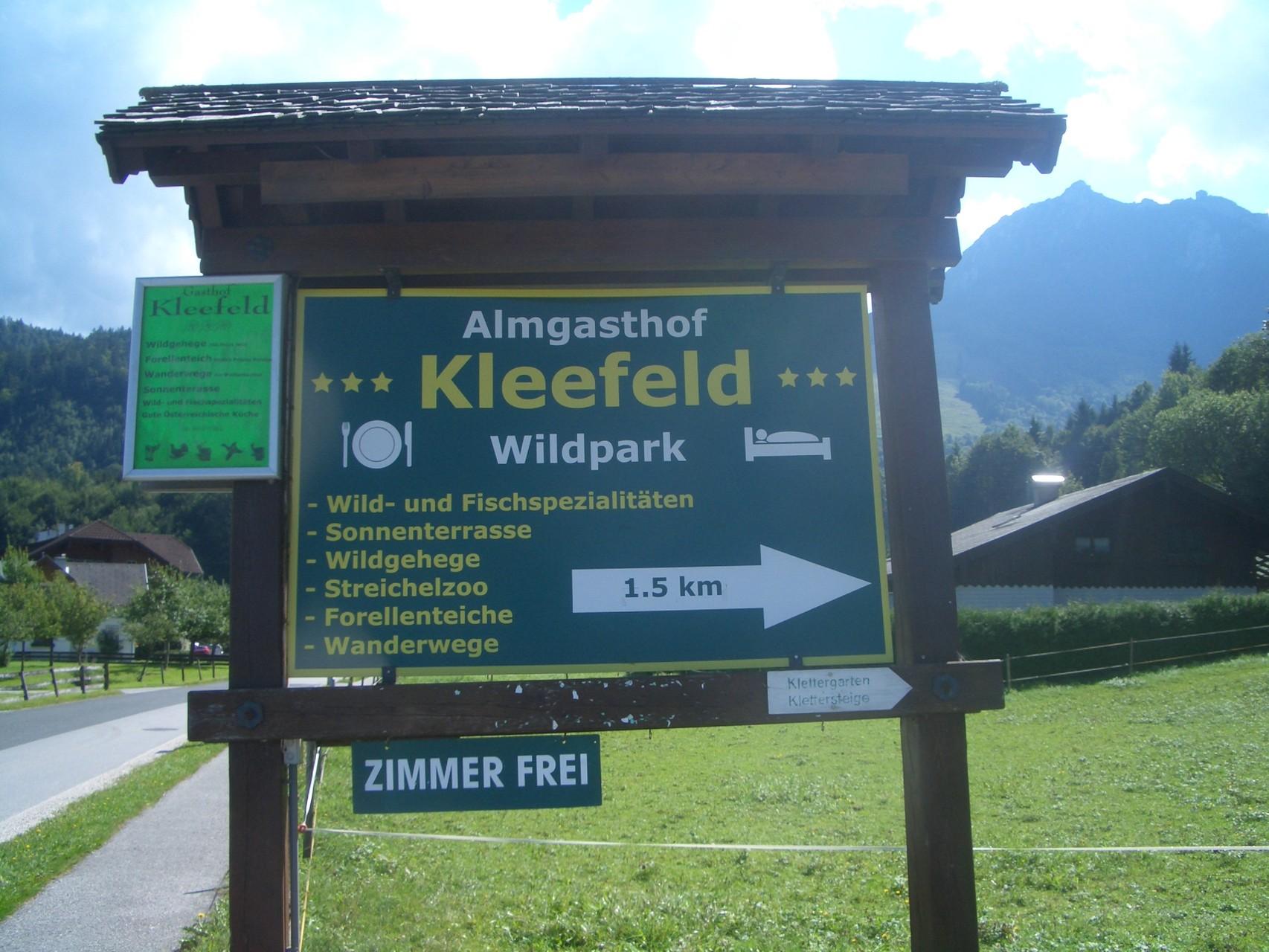 Wildtierpark Kleefeld bei Strobl.