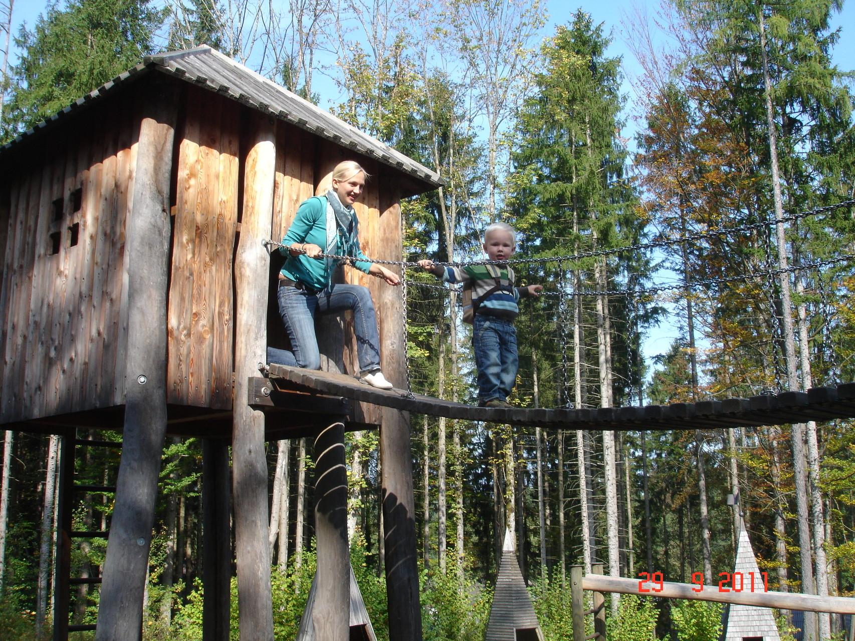 Freilichtmuseum Großgain mit Spielplatz.