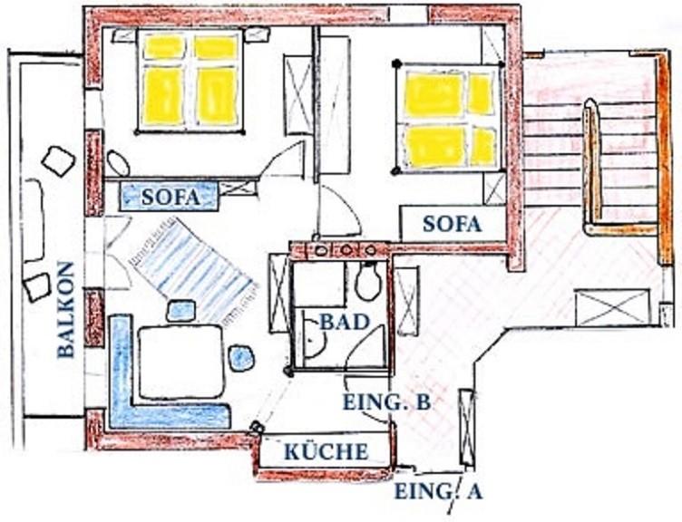 Plan Blaue Wohnung
