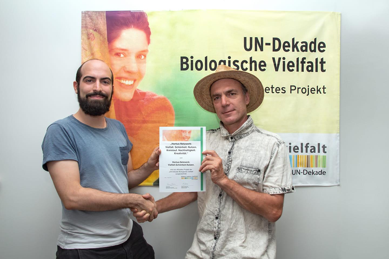 Verleihung des Preises Biologische Vielfalt fürs Hortus Netzwerk in der Schweiz