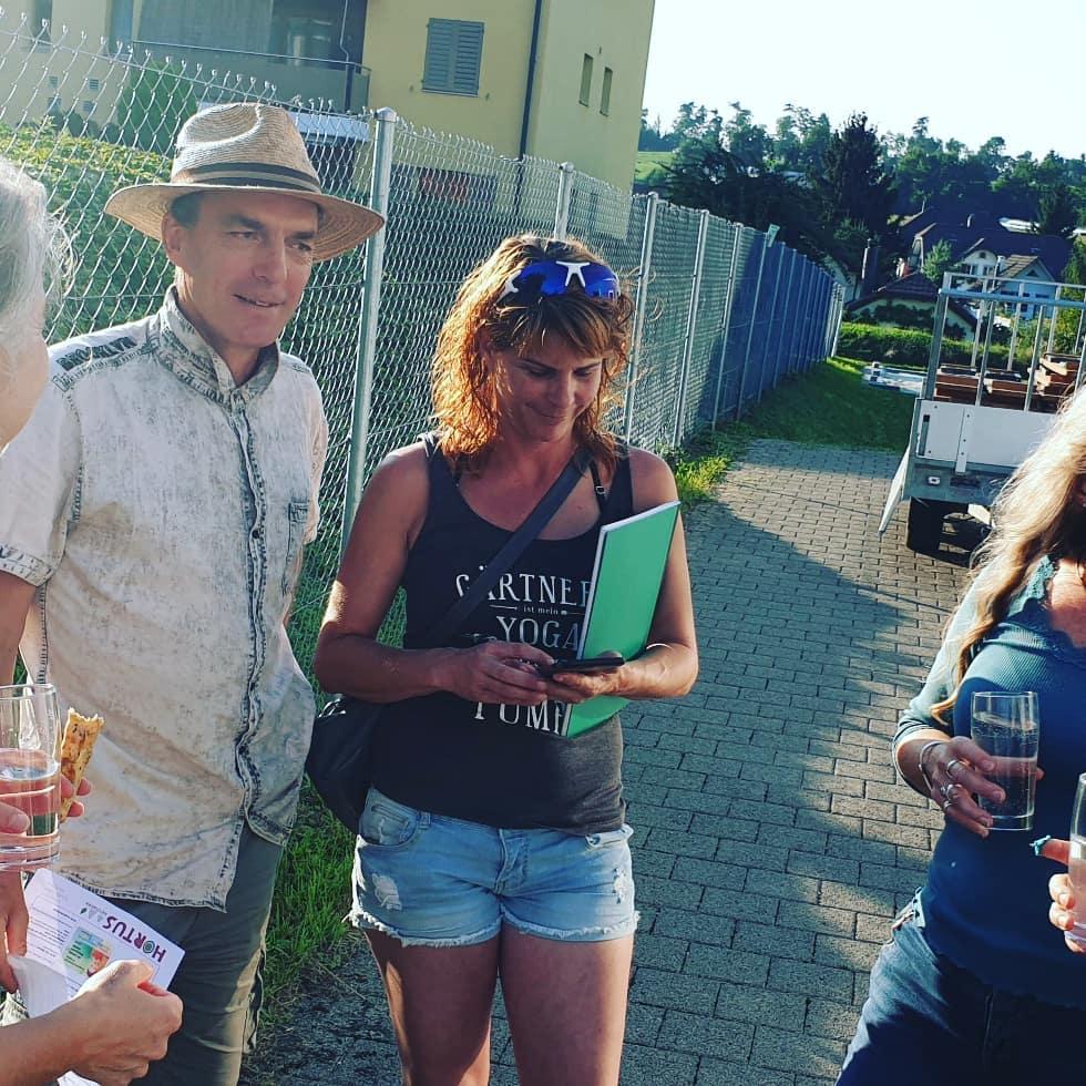 Carolin und Markus beim Hortustreffen Schweiz