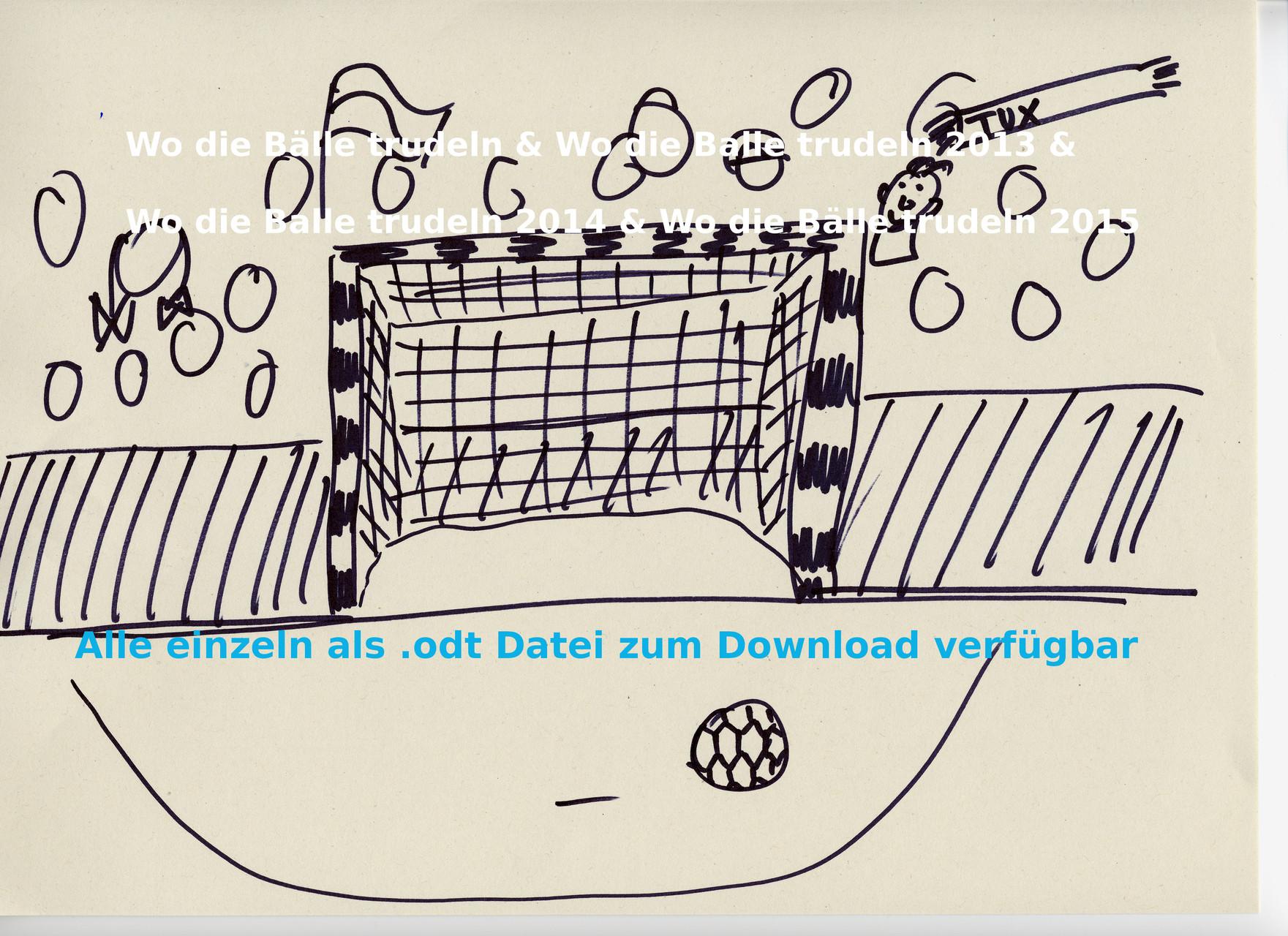 """""""Wo die Bälle trudeln"""" - die einzelnen Teil als .odt-Download"""