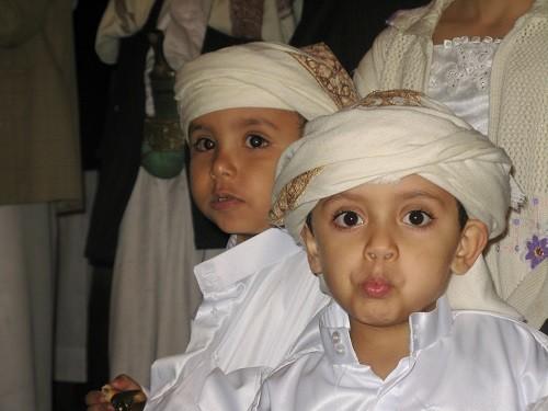 Jemenitische Hochzeitsjungs