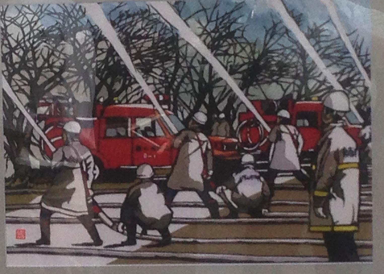 西田さん制作  切り絵(犬山市展)の「気」