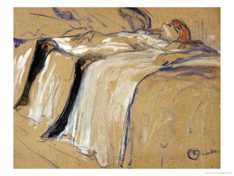 Henri de Toulouse-Lautrec: Vrouw, liggend op haar rug
