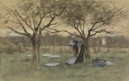 Anton Mauve: Bleach field