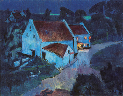 Jan Altink: Terras bij nacht