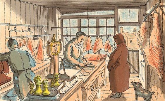 Edward Bawden: The butcher
