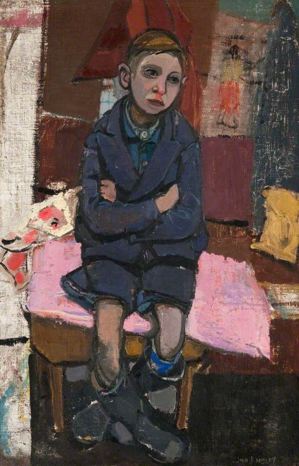 Joan Eardley: Boy on stool