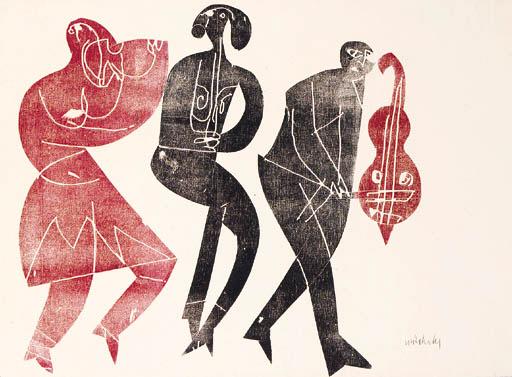 HAP Grieshaber: Three musicians