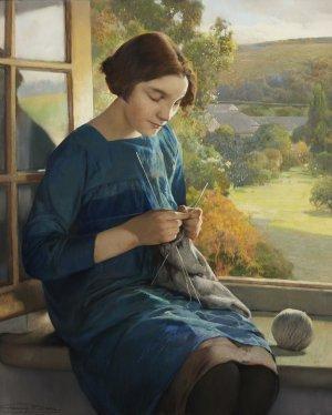 Firmin Baes: La tricoteuse