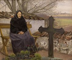 L.A.Ring: Churchyard at Flong
