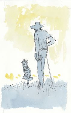 Quentin Blake: Roald Dahl and little girl