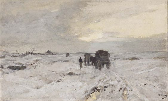 Anton Mauve: The road in the snow