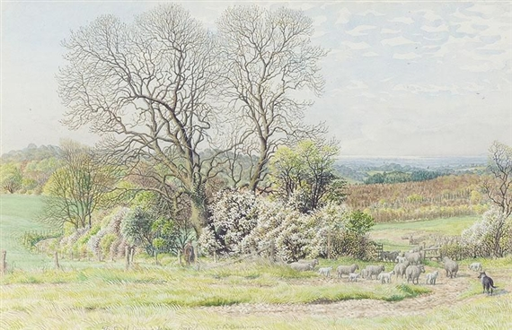 Stanley Roy Badmin: Ash and blackthorn