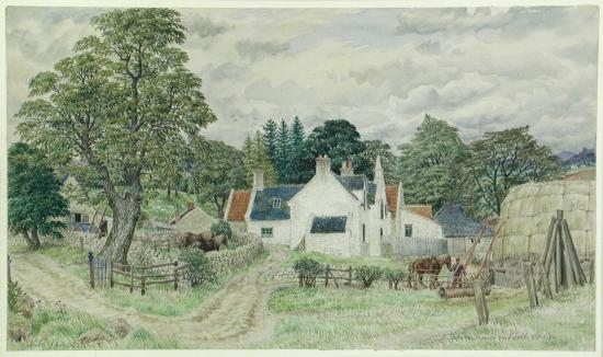 Stanley Roy Badmin: Farmhouse in the Forth valley