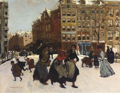George Breitner: Amsterdam winter scene