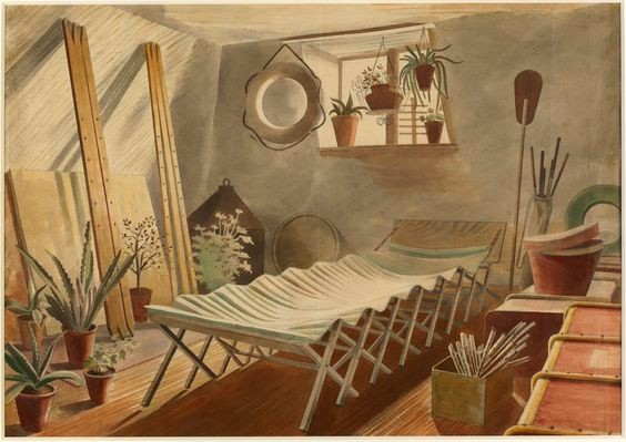 Eric Ravilious: The attic bedroom