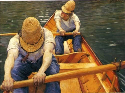 Gustave Caillebotte: Rowing on the Yerres