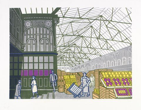 Edward Bawden: Covent Garden market