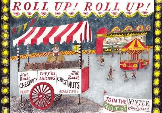 Emily Sutton: Roll up! roll up!; watercolour