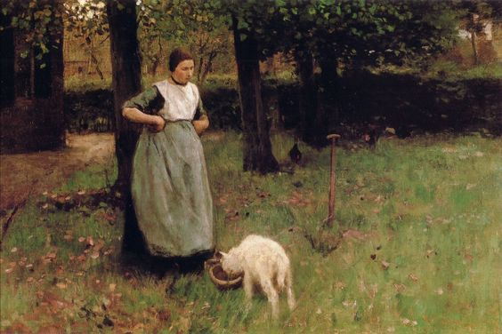 Anton Mauve: A woman and her goat